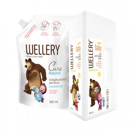 WELLERY Soft Baby 0.9 л + WELLERY Care Natural 0.9 л